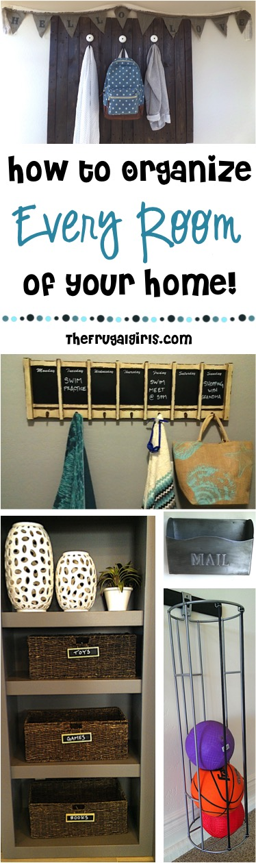Home Organizing Tips and Tricks at TheFrugalGirls.com
