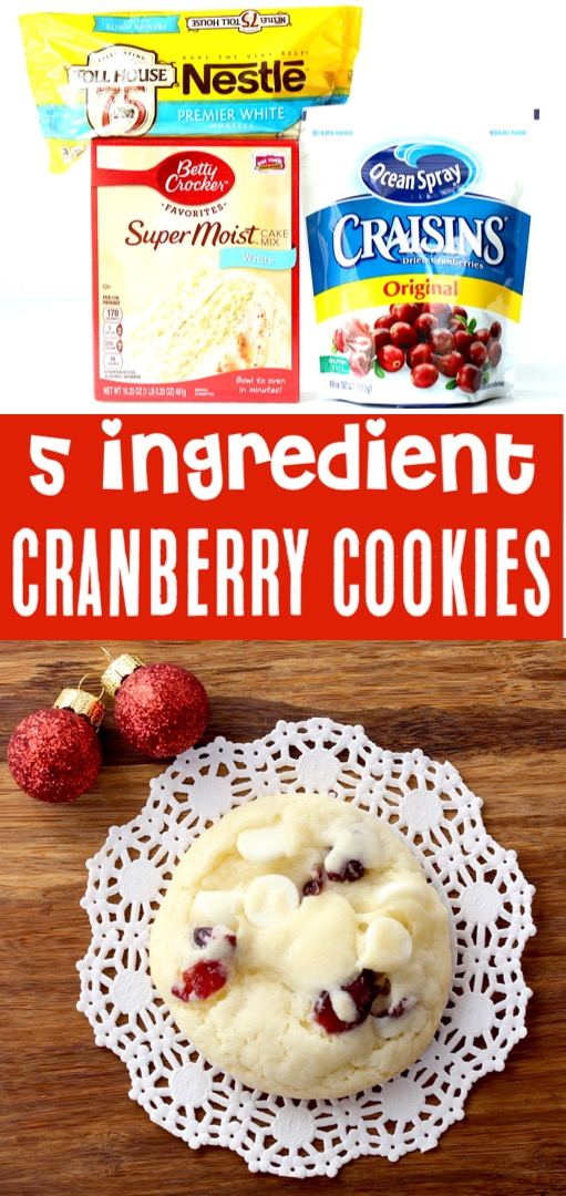Christmas Cookies Recipes Easy Cranberry White Chocolate Cake Mix Cookie Recipe