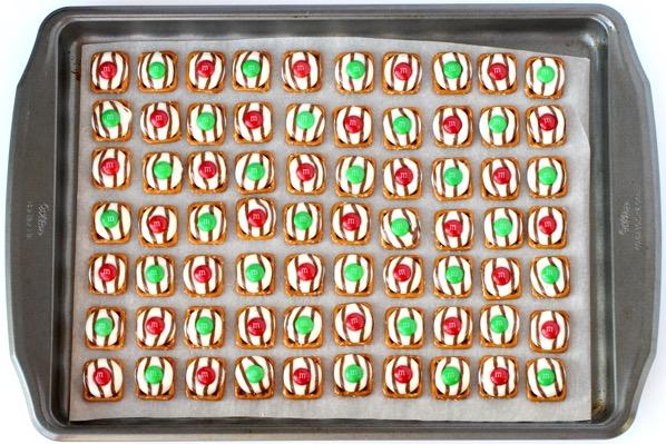 Christmas Pretzel M&M Hugs Homemade