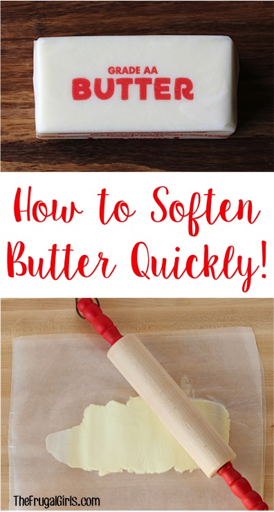 How to Soften Butter Fast - Tip from TheFrugalGirls.com