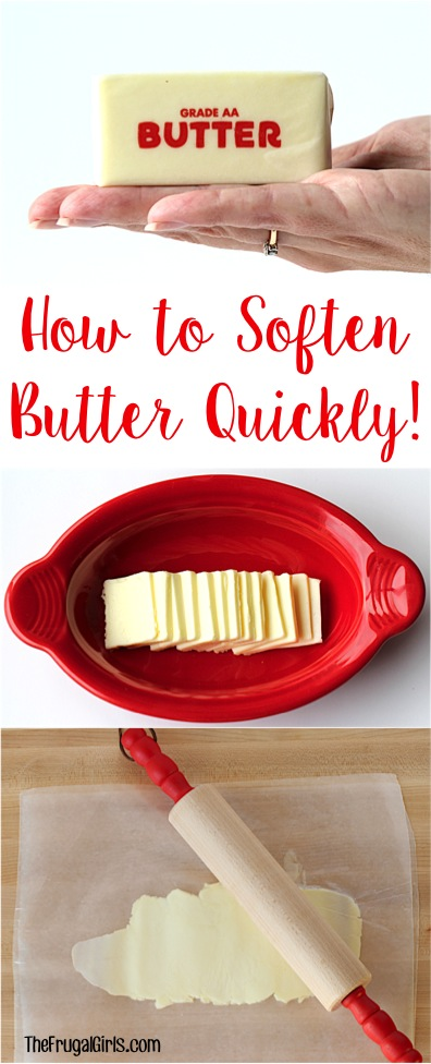 How to Soften Butter Quickly - Tip from TheFrugalGirls.com