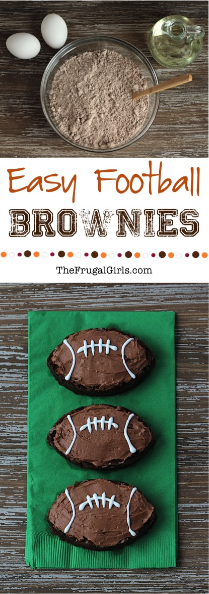 Easy Football Brownies Recipe from TheFrugalGirls.com