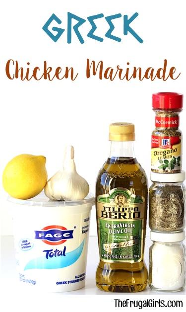 Greek Marinade Recipe at TheFrugalGirls.com