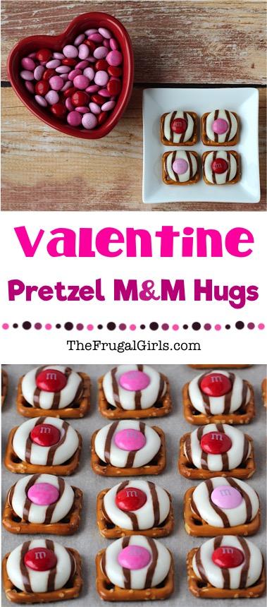 Valentine Pretzel Hugs Treat Recipe at TheFrugalGirls.com