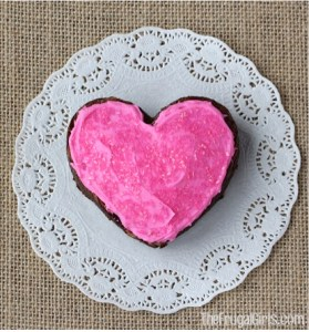 Valentine Heart Brownies from TheFrugalGirls.com