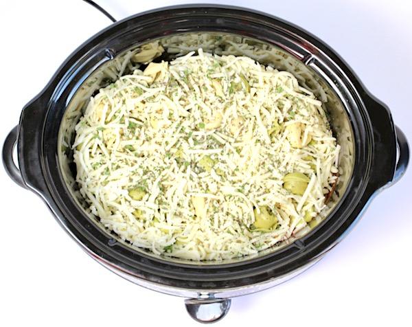 Crock Pot Cheesy Tortellini