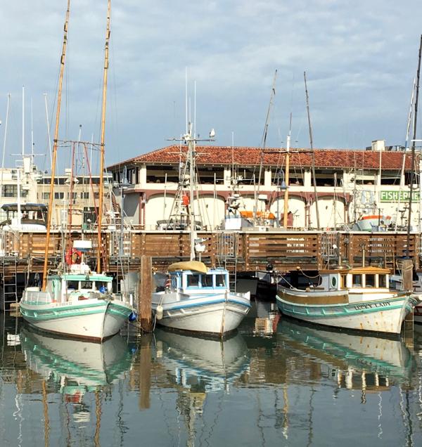 San Francisco Marina Fishing Boats