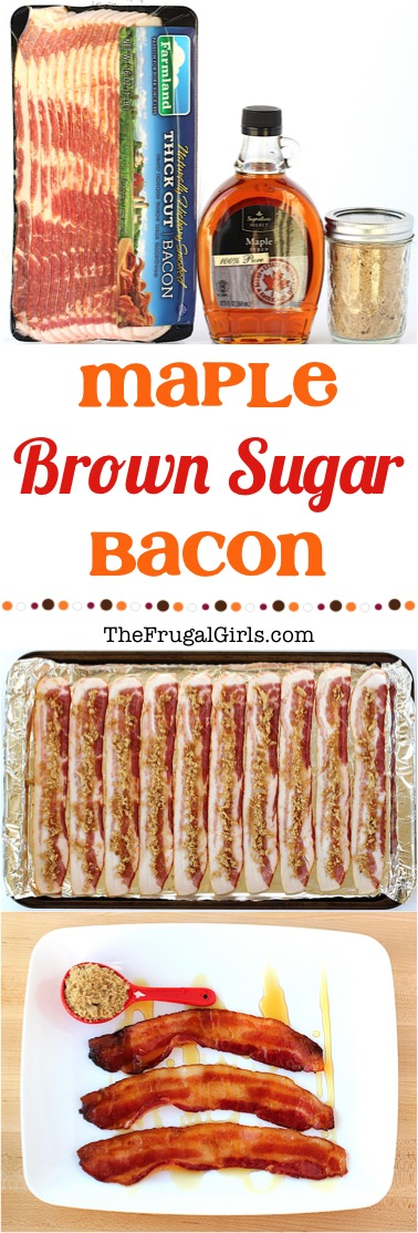 Easy Maple Brown Sugar Bacon Recipe at TheFrugalGirls.com