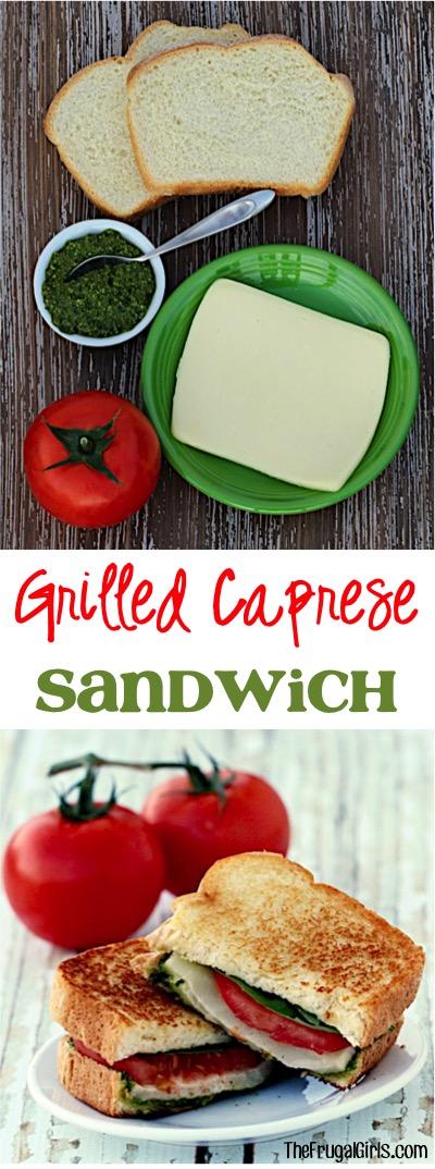 Best Grilled Caprese Sandwich Recipe at TheFrugalGirls.com