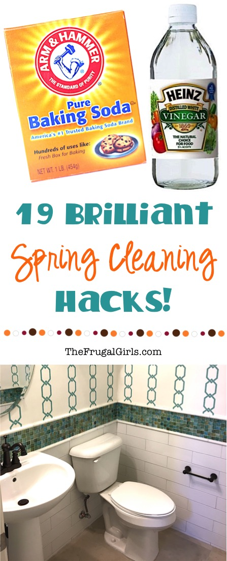 Brilliant Spring Cleaning Hacks from TheFrugalGirls.com