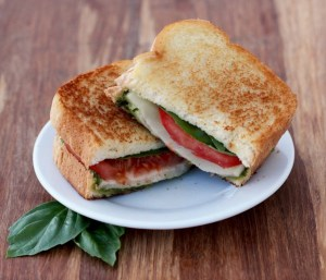 Easy Grilled Caprese Sandwich Recipe from TheFrugalGirls.com