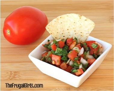 Easy Pico de Gallo Salsa Recipe from TheFrugalGirls.com