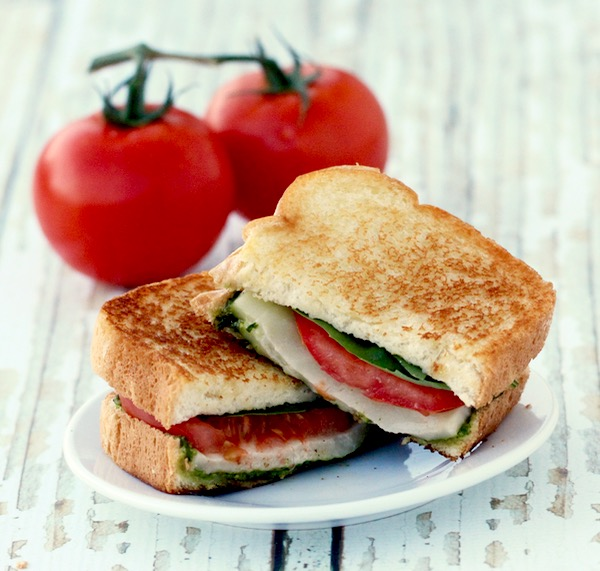 Grilled Caprese Sandwich Recipe from TheFrugalGirls.com