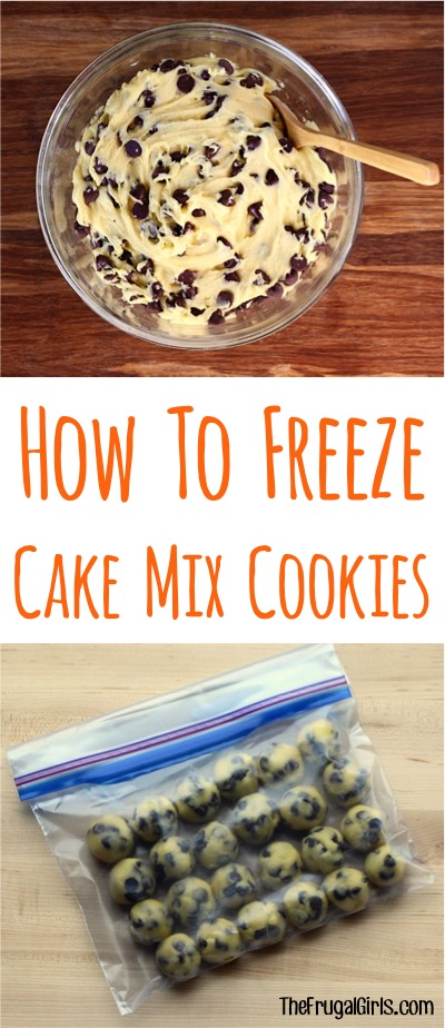 How to Freeze Cake Mix Cookie Tip from TheFrugalGirls.com