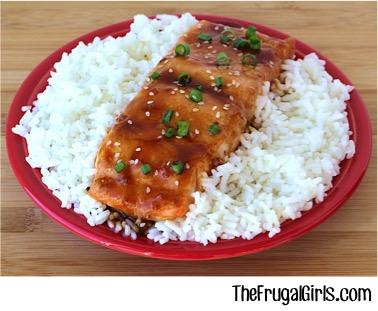 Easy Grilled Teriyaki Salmon Recipe - from TheFrugalGirls.com
