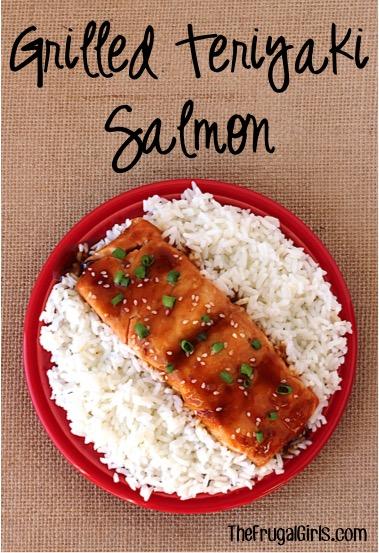 Grilled Teriyaki Salmon Recipe at TheFrugalGirls.com