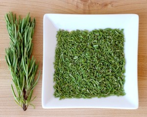 Drying Fresh Rosemary Tip at TheFrugalGirls.com