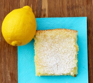 Easy Lemon Bars Recipe - 2 Ingredients - from TheFrugalGirls.com