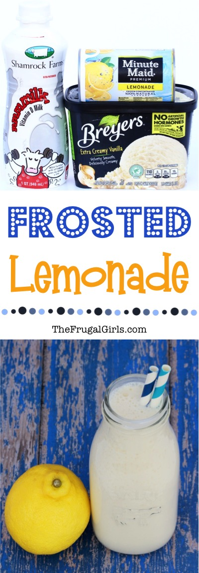Frosted Lemonade Recipe - at TheFrugalGirls.com