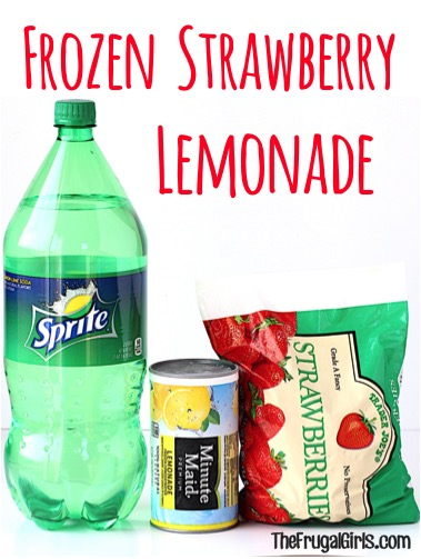 Frozen Strawberry Lemonade Recipe - from TheFrugalGirls.com