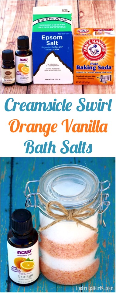 Orange Vanilla Bath Salts Recipe | at TheFrugalGirls.com