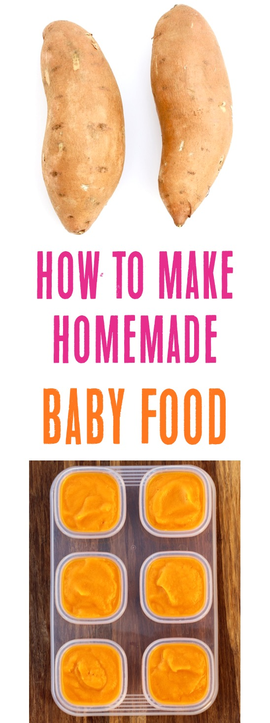 Homemade Baby Food Sweet Potatoes Easy Recipe from TheFrugalGirls.com