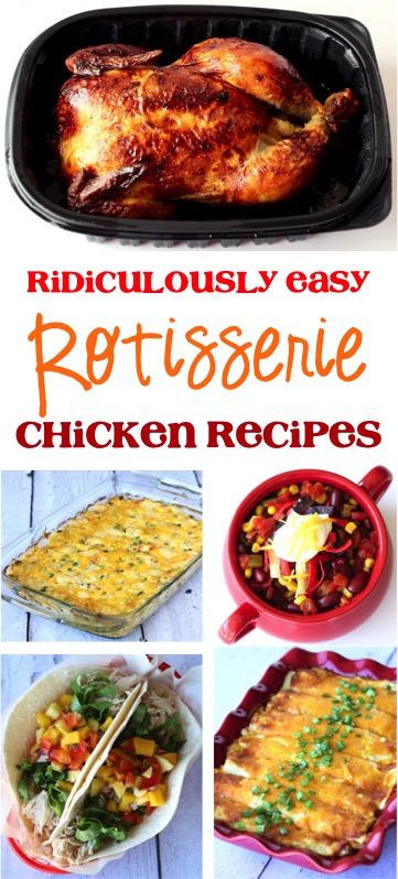 Ridiculously Easy Rotisserie Chicken Recipes from TheFrugalGirls.com