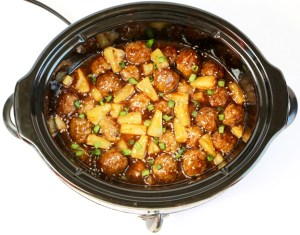 Crock Pot Teriyaki Meatballs Recipe from TheFrugalGirls.com