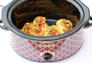 Crockpot Queso Chicken Recipe from TheFrugalGirls.com