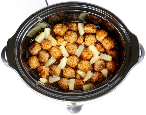 Slow Cooker Teriyaki Meatballs Recipe from TheFrugalGirls.com
