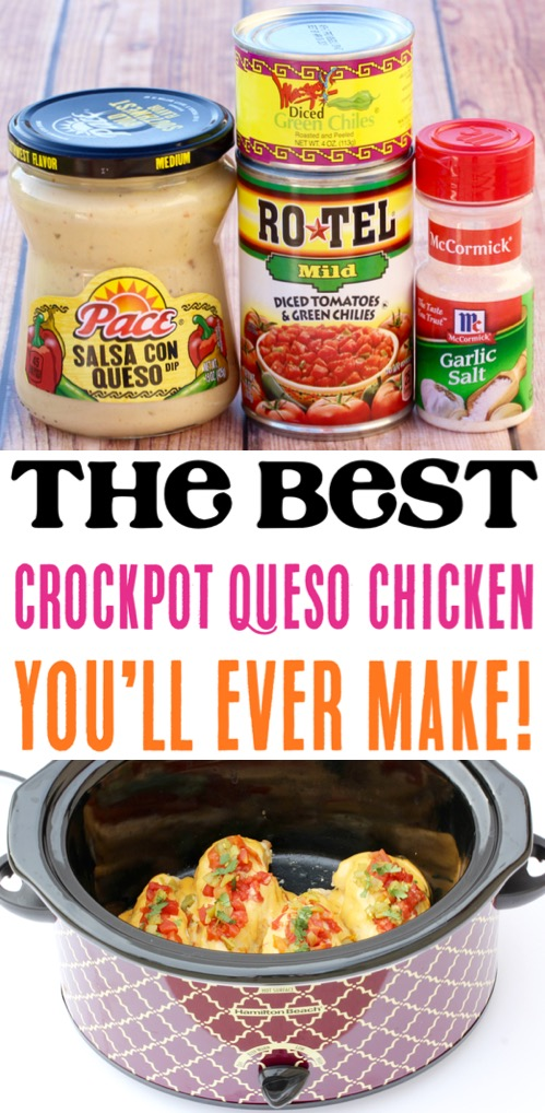 Crockpot Chicken Recipes Easy Slow Cooker Queso Chicken