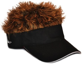 Adjustable Visor with Spiked Hair