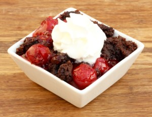 Crock Pot Chocolate Cherry Dump Cake Recipe! (Black Forest) from TheFrugalGirls.com