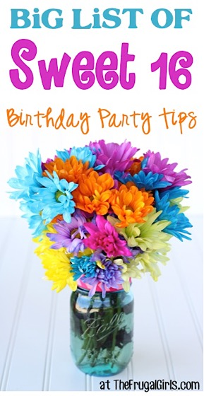 21 Sweet 16 Birthday Party Ideas! {Ultimate Guide}