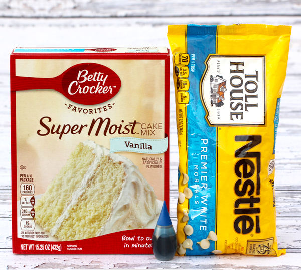 Winter Wonderland Cake Mix Cookie Recipe from TheFrugalGirls.com