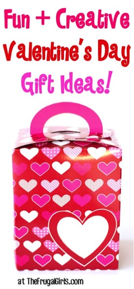 Creative Valentine's Day Gift Ideas from TheFrugalGirls.com