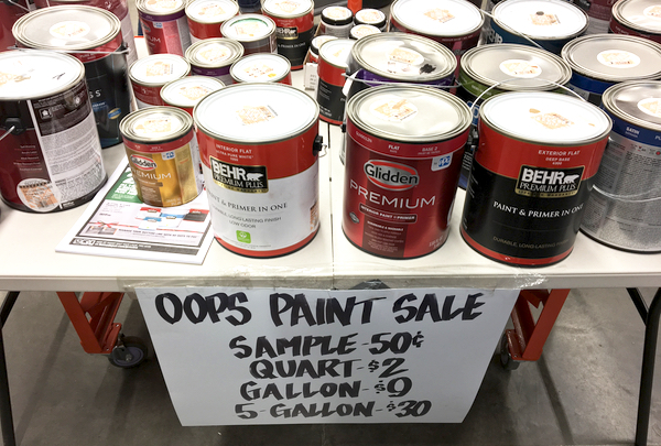Home Depot Oops Paint