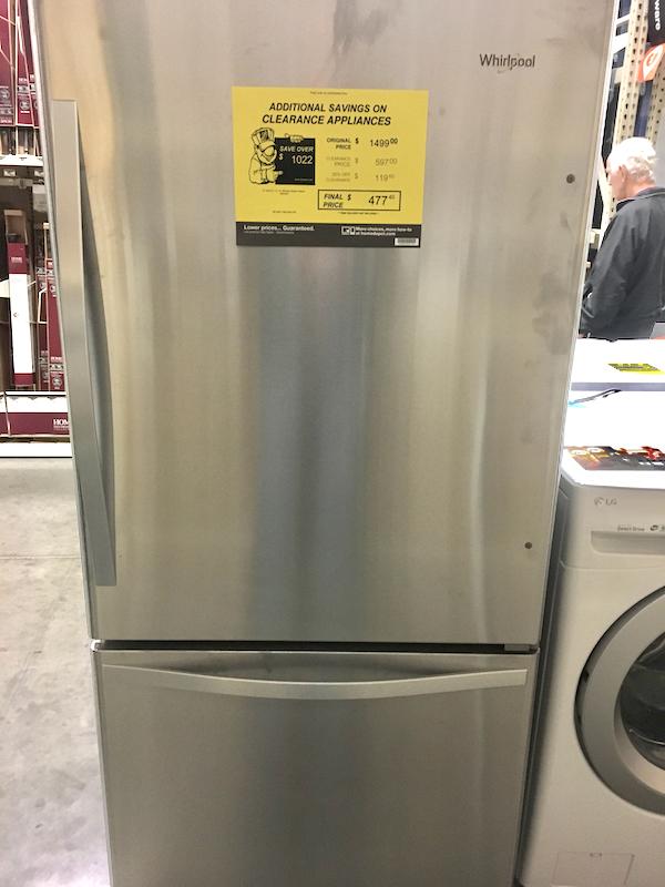 Home Depot Scratch and Dent Appliances