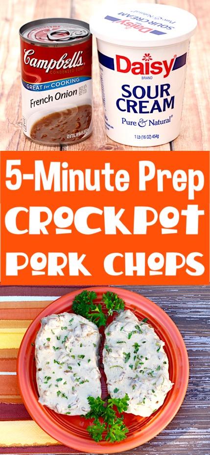 Crockpot Pork Chops Easy 4 Ingredients Recipe