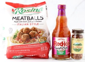 Easy Sweet Chili Party Meatballs Recipe at TheFrugalGirls.com