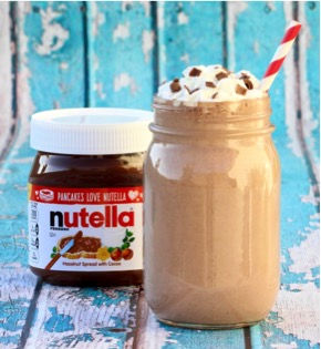 Easy Nutella Milkshake Recipe at TheFrugalGirls.com