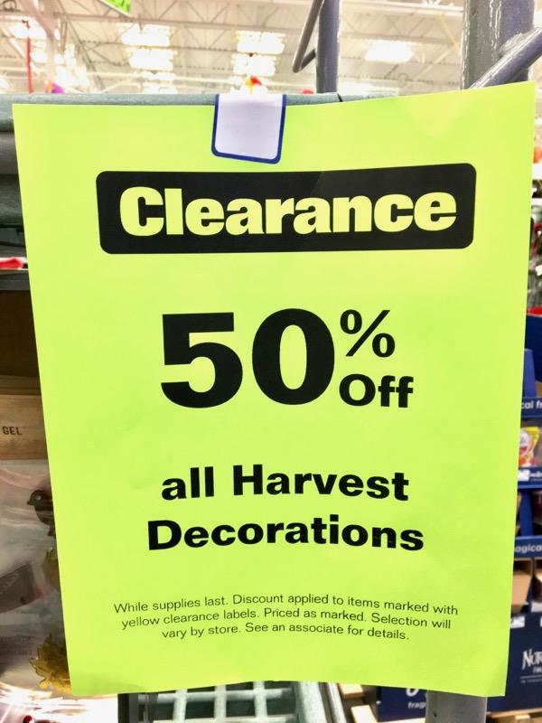 Lowe's Seasonal Clearance