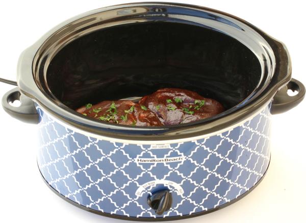 BBQ Ranch Pork Chops Crock Pot Recipe | TheFrugalGirls.com