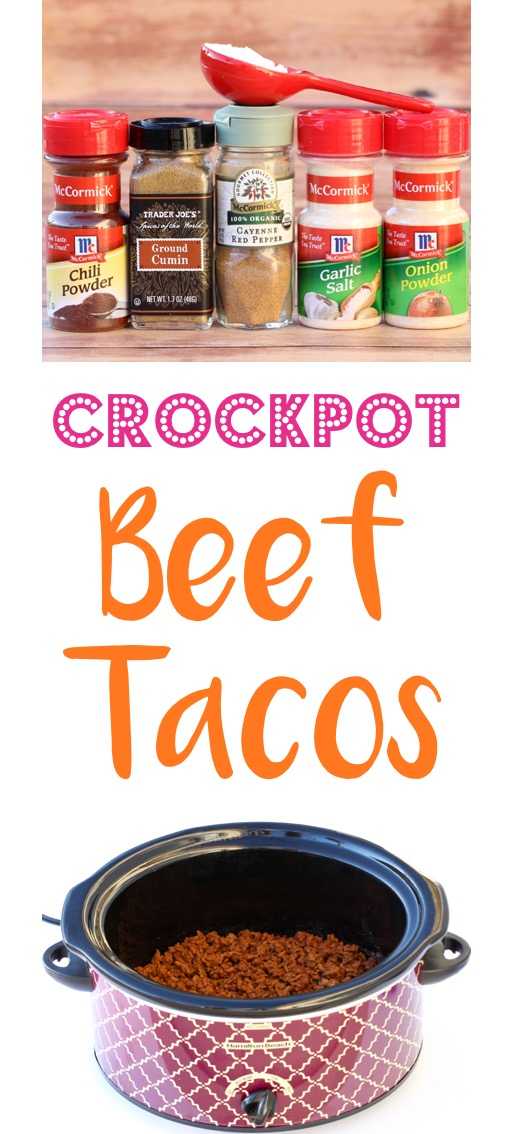 Crockpot Beef Tacos Recipe Slow Cooker Dinner | TheFrugalGirls.com