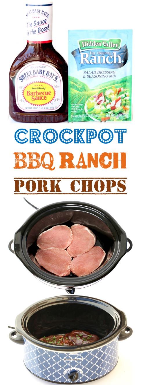 Crockpot Pork Chops Easy BBQ Ranch Recipe