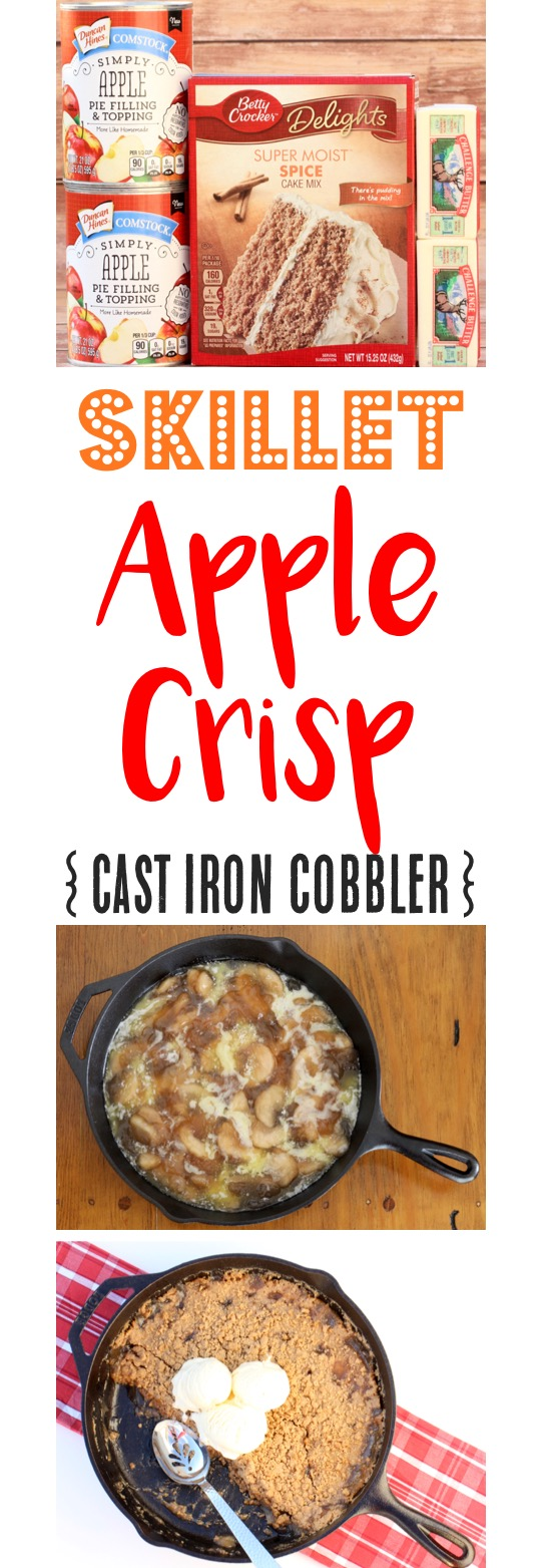 Skillet Apple Crisp Cast Iron Cobbler Recipe Easy