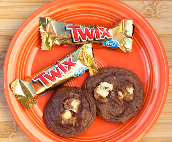 Twix Cookies Recipe Made with Cake Mix from TheFrugalGirls.com