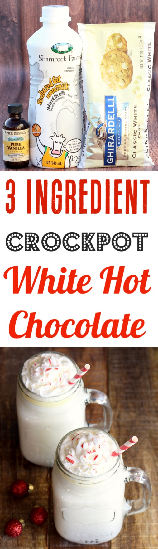 Crockpot White Hot Chocolate Recipe Easy Slow Cooker Party Drink