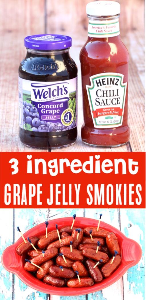 Little Smokies Crockpot Grape Jelly Easy Recipe - Best Appetizer Ever