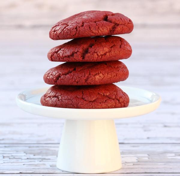 Red Velvet Cake Cookies Tasty